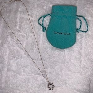 Tiffany Co. Star of David Pendant and Necklace
